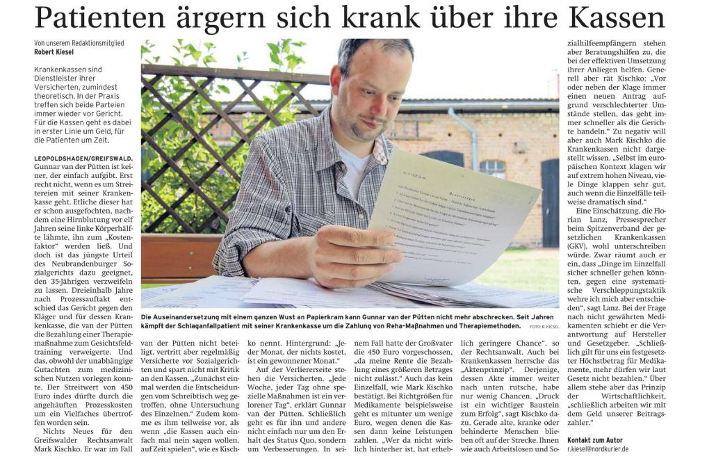 Nordkurier vom 09.April 2013